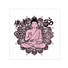 Ornate Buddha Small Satin Scarf (Square)