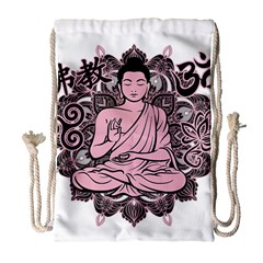 Ornate Buddha Drawstring Bag (Large)