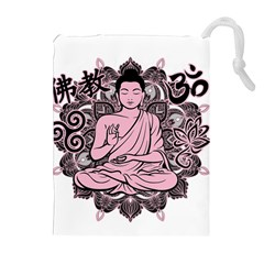Ornate Buddha Drawstring Pouches (Extra Large)