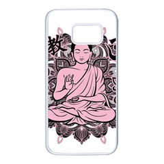 Ornate Buddha Samsung Galaxy S7 White Seamless Case