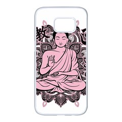 Ornate Buddha Samsung Galaxy S7 edge White Seamless Case
