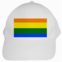 Pride rainbow flag White Cap