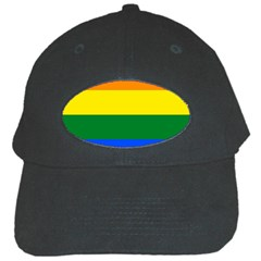 Pride rainbow flag Black Cap
