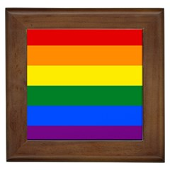 Pride rainbow flag Framed Tiles