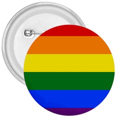 Pride rainbow flag 3  Buttons