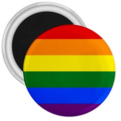 Pride rainbow flag 3  Magnets