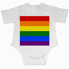 Pride rainbow flag Infant Creepers