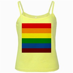 Pride rainbow flag Yellow Spaghetti Tank