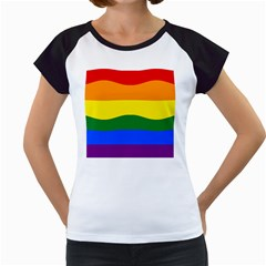 Pride rainbow flag Women s Cap Sleeve T