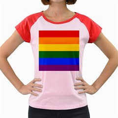 Pride rainbow flag Women s Cap Sleeve T-Shirt