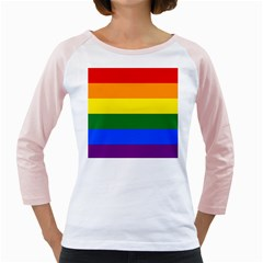 Pride rainbow flag Girly Raglans