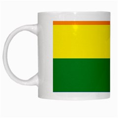 Pride rainbow flag White Mugs