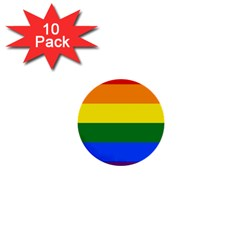 Pride rainbow flag 1  Mini Buttons (10 pack)