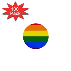 Pride rainbow flag 1  Mini Buttons (100 pack)