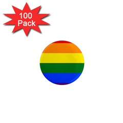 Pride rainbow flag 1  Mini Magnets (100 pack)