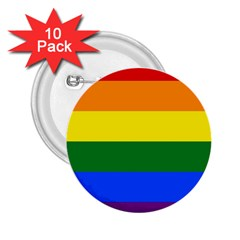 Pride rainbow flag 2.25  Buttons (10 pack)