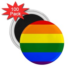 Pride rainbow flag 2.25  Magnets (100 pack)