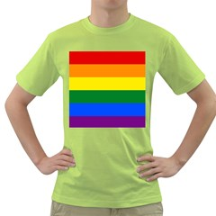 Pride rainbow flag Green T-Shirt