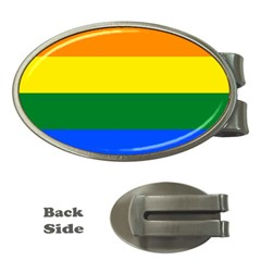 Pride rainbow flag Money Clips (Oval)
