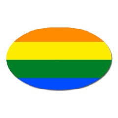Pride rainbow flag Oval Magnet