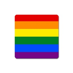Pride rainbow flag Square Magnet