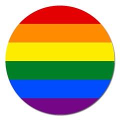 Pride rainbow flag Magnet 5  (Round)
