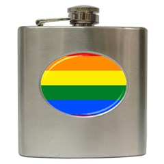 Pride rainbow flag Hip Flask (6 oz)