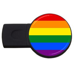 Pride rainbow flag USB Flash Drive Round (1 GB)