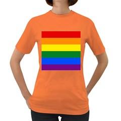 Pride rainbow flag Women s Dark T-Shirt