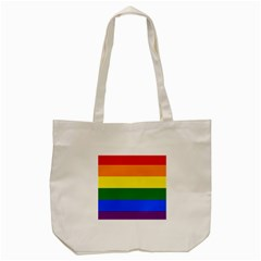 Pride rainbow flag Tote Bag (Cream)