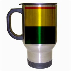 Pride rainbow flag Travel Mug (Silver Gray)