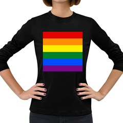 Pride rainbow flag Women s Long Sleeve Dark T-Shirts