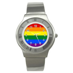 Pride rainbow flag Stainless Steel Watch