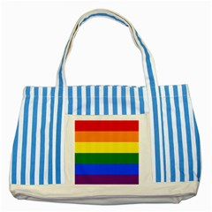 Pride rainbow flag Striped Blue Tote Bag
