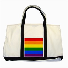 Pride rainbow flag Two Tone Tote Bag