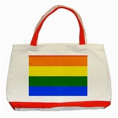Pride rainbow flag Classic Tote Bag (Red)