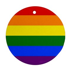 Pride rainbow flag Round Ornament (Two Sides)
