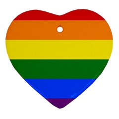 Pride rainbow flag Heart Ornament (Two Sides)