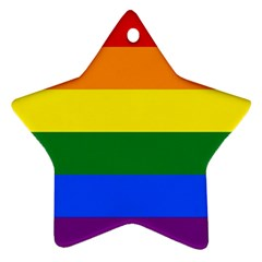 Pride rainbow flag Star Ornament (Two Sides)