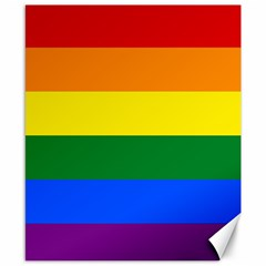 Pride rainbow flag Canvas 8  x 10