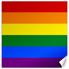 Pride rainbow flag Canvas 12  x 12