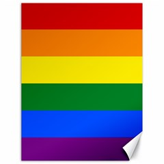 Pride rainbow flag Canvas 18  x 24