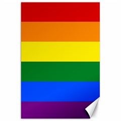 Pride rainbow flag Canvas 20  x 30