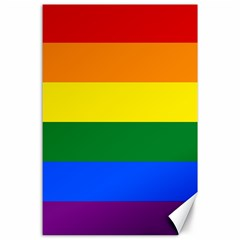 Pride rainbow flag Canvas 24  x 36
