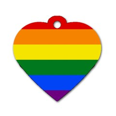 Pride rainbow flag Dog Tag Heart (Two Sides)