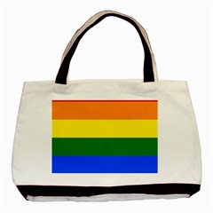 Pride rainbow flag Basic Tote Bag (Two Sides)