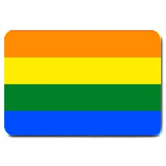 Pride rainbow flag Large Doormat