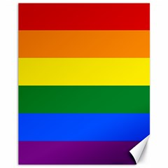 Pride rainbow flag Canvas 11  x 14