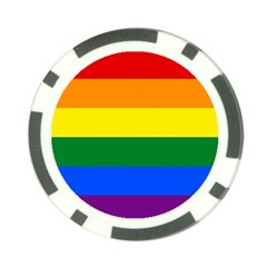 Pride rainbow flag Poker Chip Card Guard