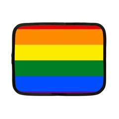 Pride rainbow flag Netbook Case (Small)
